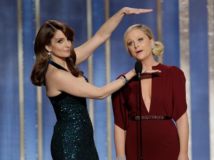 Tina Fey and Amy Poehler host the 2013 Golden GlobesGetty Images