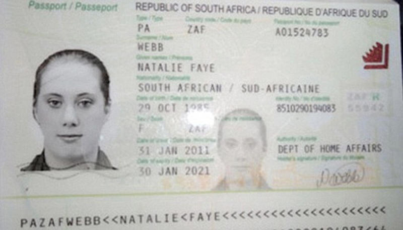 """A copy of the fake South African travelling passport of Samantha Lewthwaite in this handout photo released by the Kenyan police in December 2011. A British security source said on Tuesday it was a possibility that the widow of a suicide bomber who attacked London in 2005 was involved in the siege of a Nairobi shopping mall where Islamist fighters killed at least 62 people. When asked about reports that Lewthwaite, dubbed the """"white widow"""" by the British media, was directly involved in the attack in Kenya, the source said: """"It is a possibility. But nothing definitive or conclusive yet."""" REUTERS/Kenyan Police Service/Handout via Reuters (KENYA - Tags: CIVIL UNREST CRIME LAW)  ATTENTION EDITORS - THIS IMAGE WAS PROVIDED BY A THIRD PARTY. FOR EDITORIAL USE ONLY. NOT FOR SALE FOR MARKETING OR ADVERTISING CAMPAIGNS. NO SALES. NO ARCHIVES. THIS PICTURE IS DISTRIBUTED EXACTLY AS RECEIVED BY REUTERS, AS A SERVICE TO CLIENTS"""