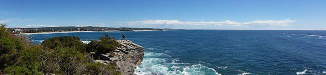 Looking back to Manly on the Coastal Walk. Photo: Allison Wallace