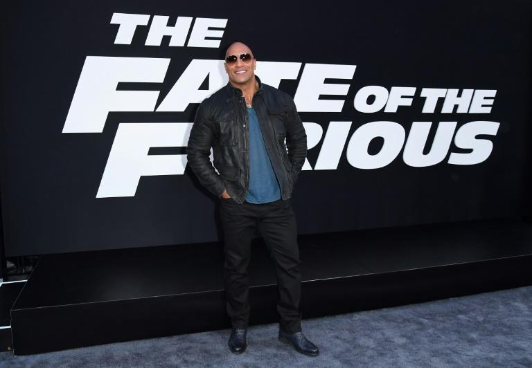 "Actor Dwayne Johnson attends the premiere of Universal Pictures' ""The Fate Of The Furious"" on April 8, 2017 in New York City"
