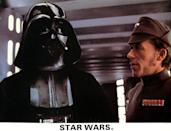 <p>Pulled to the dark side, Darth Vader is the ultimate big bad for the original trilogy... though he does get a little bit of a redemption when he saves his son Luke. The deep robotic breathing and voice, are just part of what make him one of the best villains ever.</p>