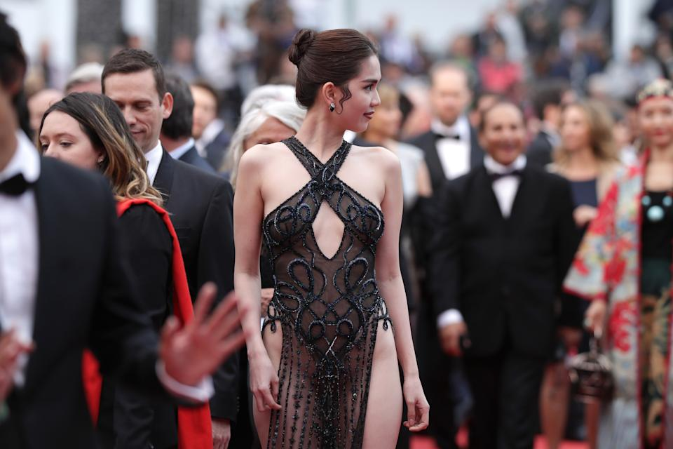 """CANNES, FRANCE - MAY 19: Ngoc Trinh attends the screening of """"A Hidden Life (Une Vie Cachée)"""" during the 72nd annual Cannes Film Festival on May 19, 2019 in Cannes, France. (Photo by Andreas Rentz/Getty Images)"""