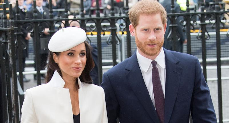 The Duke and Duchess of Sussex have announced they have severed ties with four British tabloid news outlets in new letter. (Photo by Samir Hussein/Samir Hussein/WireImage)