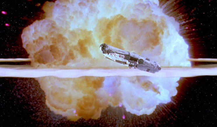 The Death Star exploding - Credit: Lucasfilm