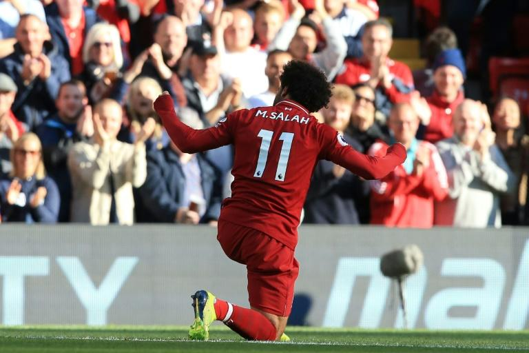 Egyptian star Mohamed Salah was again Liverpool's goal-scoring hero in a 1-0 victory over Brighton