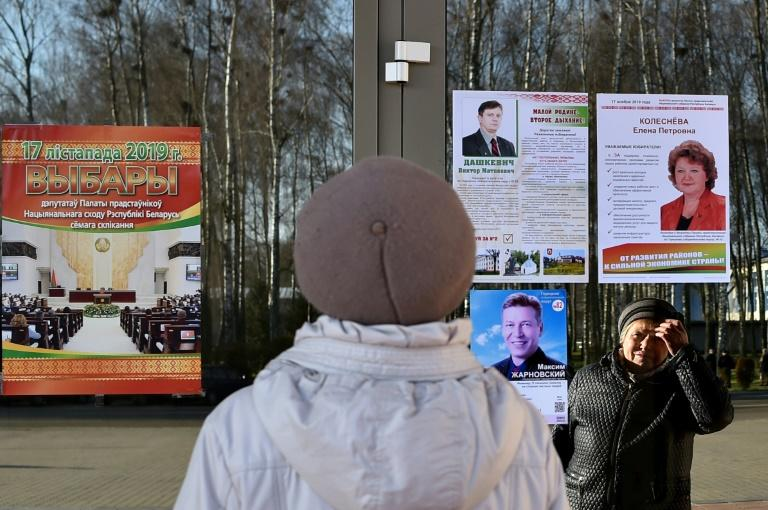 Those critical of Lukashenko faced little choice at the ballot box, with the main opposition leaders and the only two current opposition MPs barred from standing (AFP Photo/Sergei GAPON)