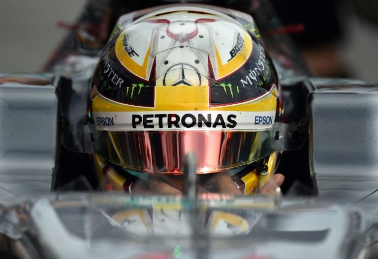 Mercedes driver Lewis Hamilton leaves the pits during practice for the Australian Grand Prix in Melbourne on March 24, 2017