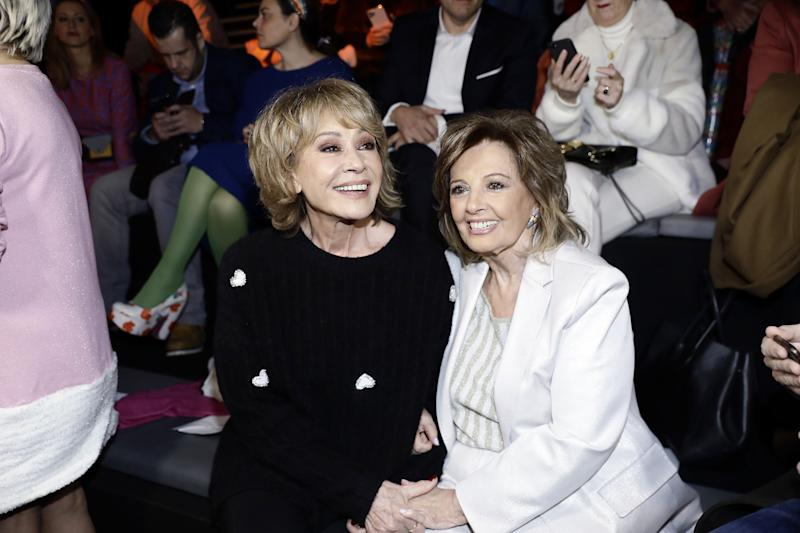 MADRID, SPAIN - JANUARY 29: Mila Ximenez and Maria Teresa Campos attend Agatha Ruiz de la Prada fashion show during the Merecedes Benz Fashion Week Autum/Winter 2020-21 at Ifema on January 29, 2020 in Madrid, Spain. (Photo by Europa Press Entertainment/Europa Press via Getty Images)
