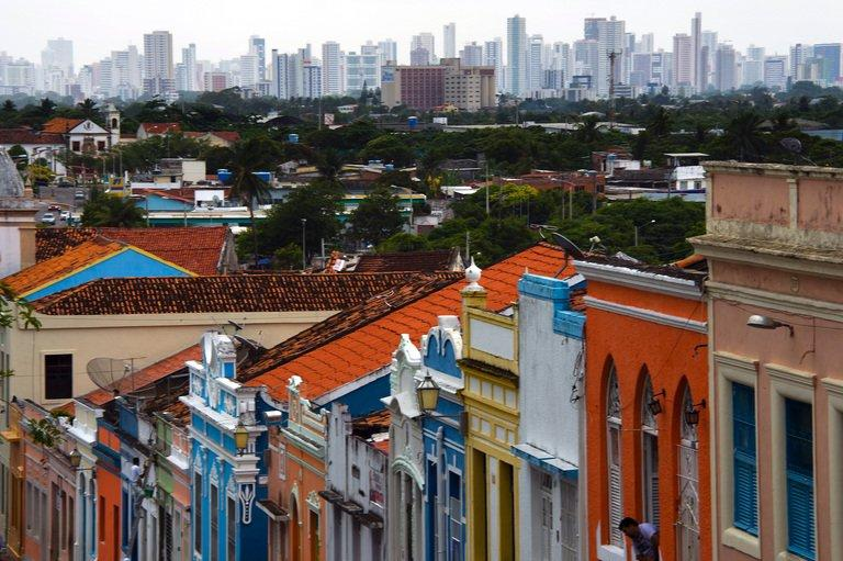 Recife's skyline in the background, a city where one a major World Cup stadium is being built, taken December 9 2012