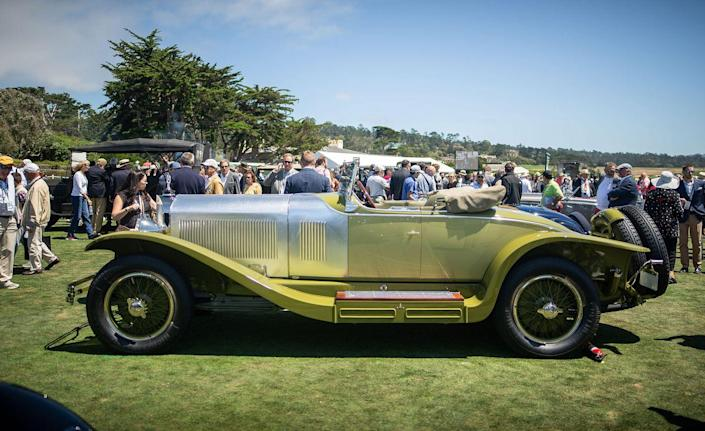 <p>Pebble Beach is an unparalleled place to view and appreciate studies in color and texture. Anyone seeking maximum palette, however, need only visit those vehicles handled by prewar coach builders. These outfits satisfied the whims of a customer base with tastes so flamboyant that it makes today's special-order buyer pool seem woefully uninspired. Even among such a crowd, though, this Mercedes-Benz Model K's two-tone green body and turned-aluminum hood stand out. And its 140-hp straight-six made it a performance standout, too—it was one of the fastest touring cars on the road in its time.<em>—Jared Gall</em></p>