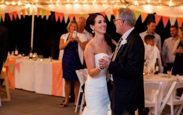 Cheryl Joy dances with her father Frank Giampa on her wedding night. (Submitted by Cheryl Joy - image credit)