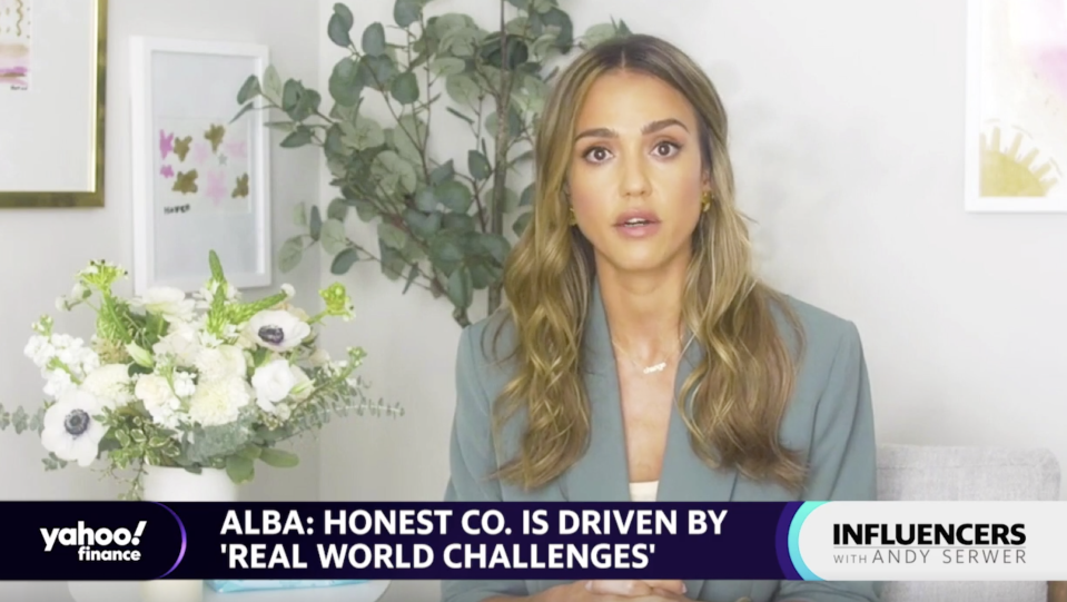 """Jessica Alba, actress and founder of The Honest Company, appears on """"Influencers with Andy Serwer."""""""