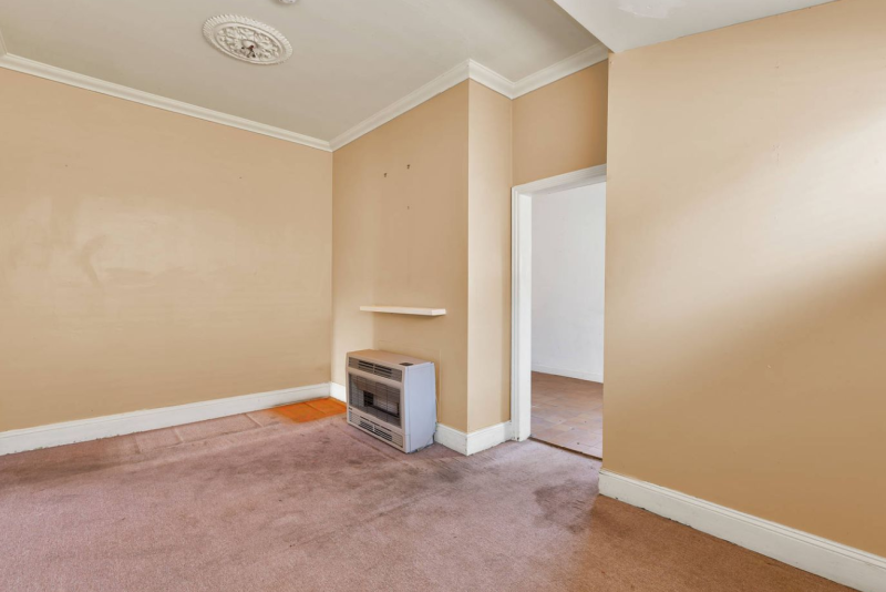 Inside a two-bedroom home at Albert Park. It doesn't have a bathroom.