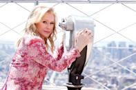 <p>Kathy Hilton takes in the view from The Empire State Building on June 23 in N.Y.C.</p>