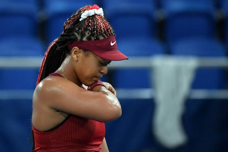 Japan's Naomi Osaka saw her dreams of Olympic gold in Tokyo ended by Marketa Vondrousova in the third round