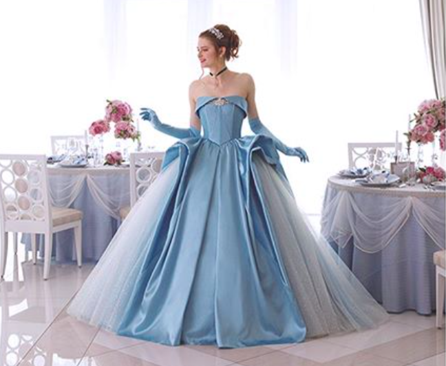 These disney princess inspired bridal dresses are fit for for Disney style wedding dresses