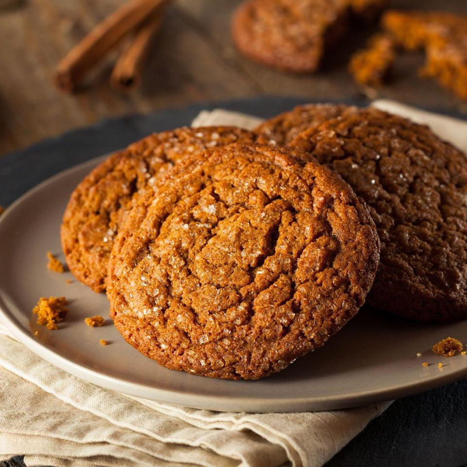 """<p>While it might seem like """"protein"""" cookies are a healthier way to zap a sugar hankering, they're really just processed, baked goods that are infused with vitamins and protein that aren't any better for you than regular cookies. </p><p>If you're craving a cookie, says Lisa Moskovitz, R.D., <a href=""""http://www.nynutritiongroup.com/lisa-moskovitz-rd-cdn-cpt/"""" rel=""""nofollow noopener"""" target=""""_blank"""" data-ylk=""""slk:CEO of the New York Nutrition Group"""" class=""""link rapid-noclick-resp"""">CEO of the New York Nutrition Group</a>, it's better to limit yourself to a real one a couple of times a week. If you need more protein in your diet, have a serving of a naturally rich source like yogurt, eggs, nuts, beans, fish, or chicken.</p>"""