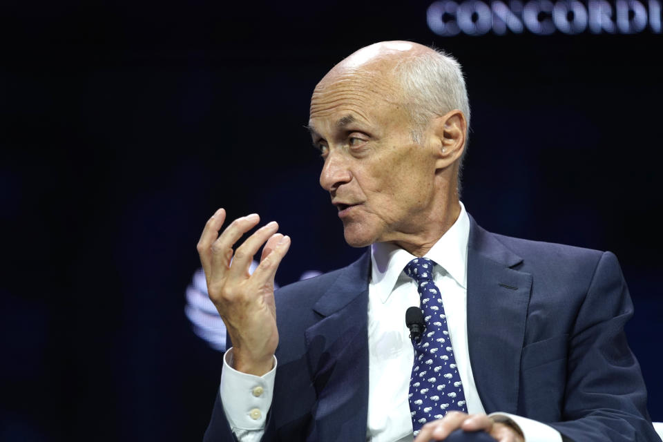 NEW YORK, NEW YORK - SEPTEMBER 23: Michael Chertoff, Executive Chairman and Co-Founder of The Chertoff Group, speaks onstage during the 2019 Concordia Annual Summit - Day 1 at Grand Hyatt New York on September 23, 2019 in New York City. (Photo by Riccardo Savi/Getty Images for Concordia Summit)