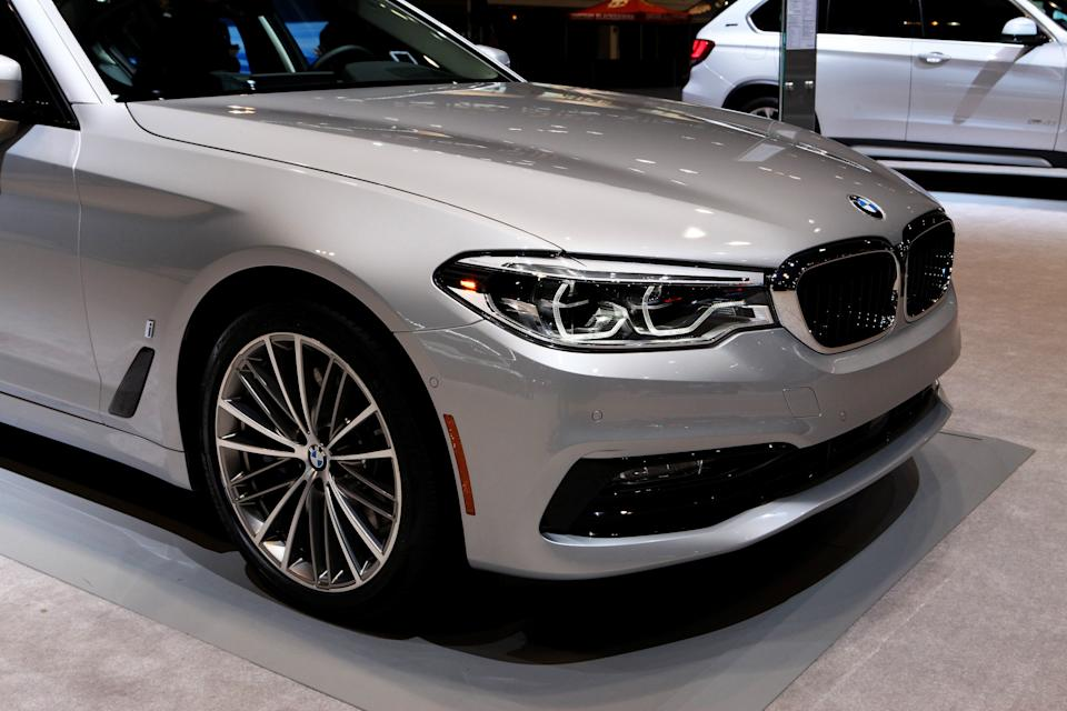 CHICAGO - FEBRUARY 09:  2018 BMW 530e is on display at the 109th Annual Chicago Auto Show at McCormick Place in Chicago, Illinois on February 9, 2017.  (Photo By Raymond Boyd/Getty Images)