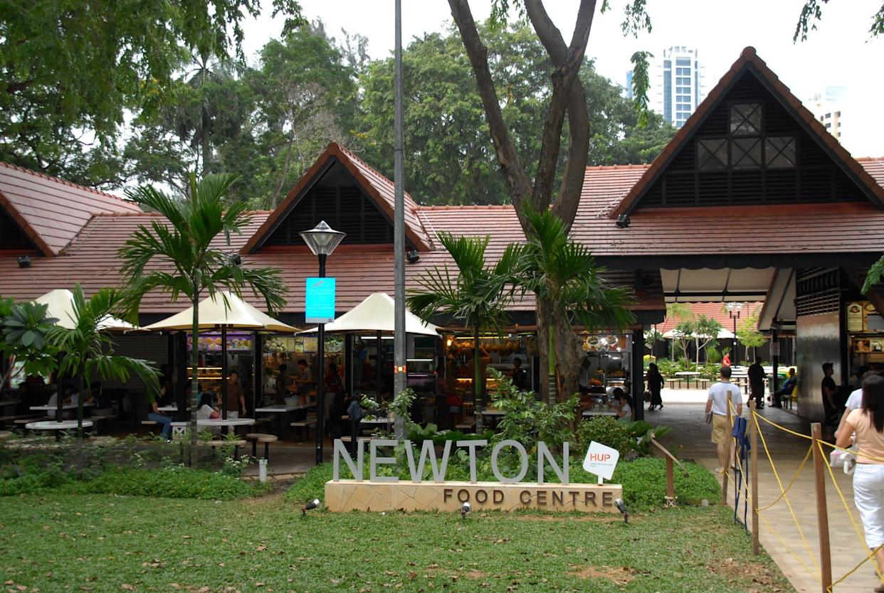 """Before the group settles on Lau Pa Sat, Nick mentions liking the satay at Newton Food Centre, but Colin insists Newton is """"only for expats and tourists."""" In the movie adaptation, however, it seems the group chooses Newton."""