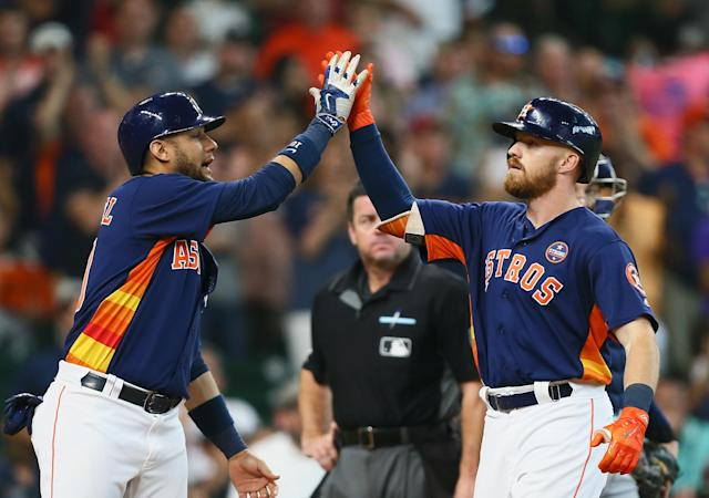 The Astros punched their postseason ticket Sunday. (Photo by Bob Levey/Getty Images)