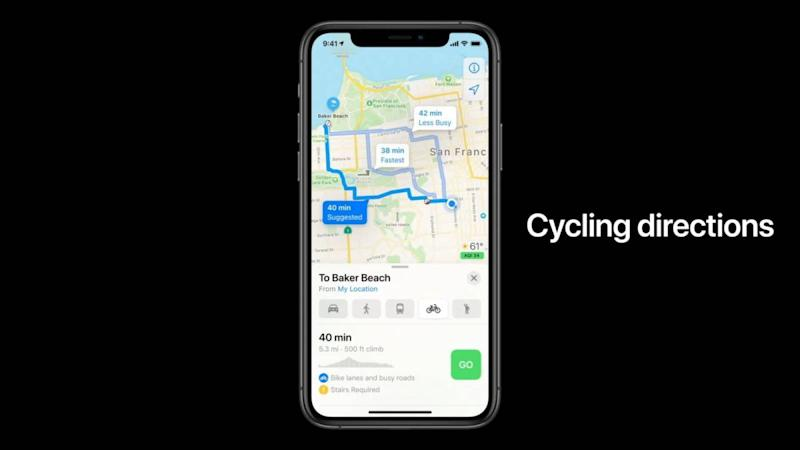 Cycling Directions iphone