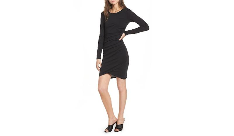 Sexy but wearable, this ruched piece is the LDB of your dream (Photo: Nordstrom)