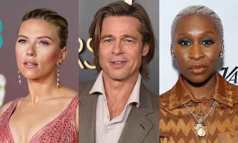 Scarlett Johansson, Brad Pitt and Cynthia Erivo are nominated for top acting honors at the 2020 Oscars. (Photo: Getty Images)