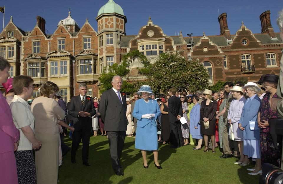 The Queen is accompanied by a personal friend Sir Timothy Colman