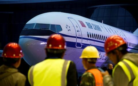 Ceremony marking 1st delivery of Boeing 737 Max 8 airplane to Air China in Zhoushan - Credit: Reuters