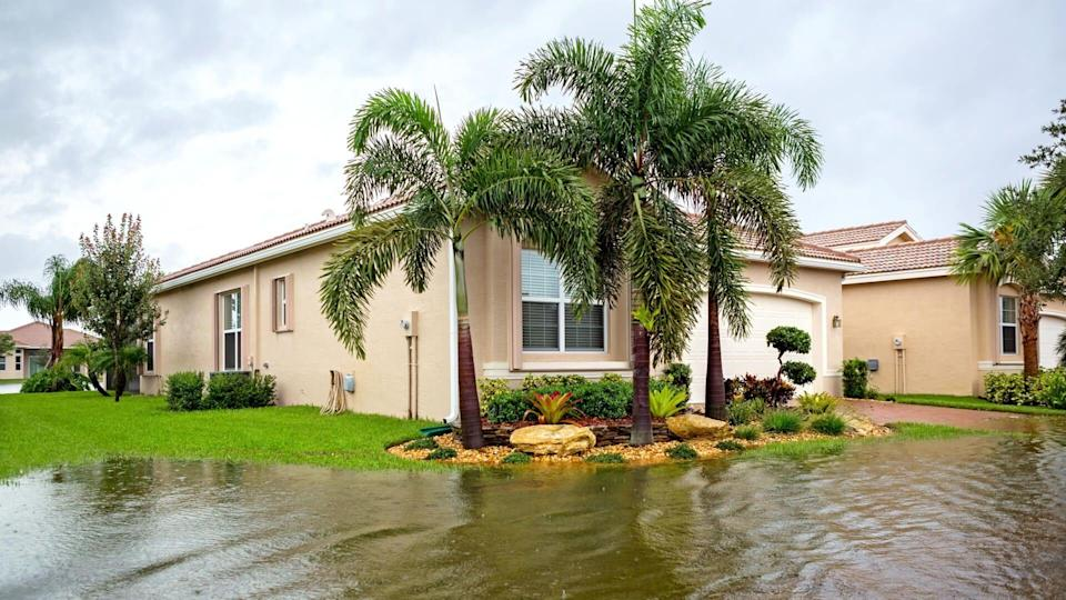flooding from a hurricane or tropical storm.