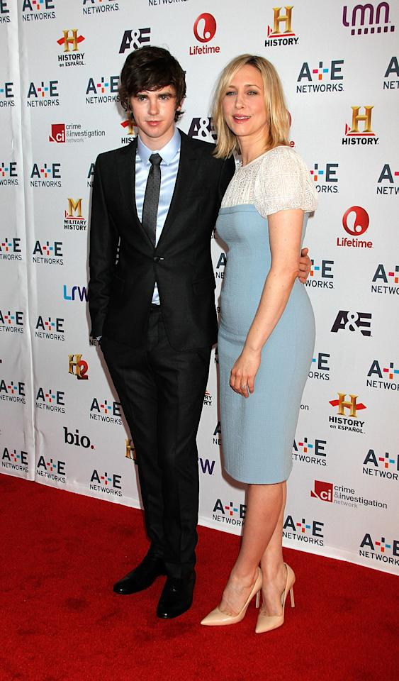 NEW YORK, NY - MAY 08:  Vera Farmiga and Freddie Highmore attend A&E Networks 2013 Upfront at Lincoln Center on May 8, 2013 in New York City.  (Photo by Laura Cavanaugh/Getty Images)