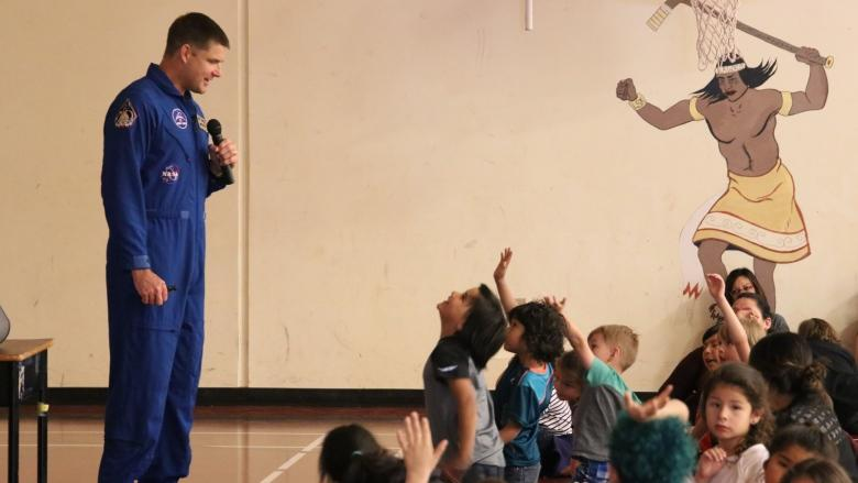 Mi'kmaq youth encouraged to reach for the stars as astronaut helps open maker lab