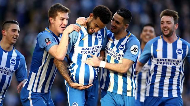 "<p><a href=""http://www.90min.com/teams/brighton"" rel=""nofollow noopener"" target=""_blank"" data-ylk=""slk:Brighton"" class=""link rapid-noclick-resp"">Brighton</a> brought Coventry's excellent FA Cup run to an end in the fifth round as a much-changed Seagulls side eased into the quarter-finals for the first time since 1986.</p><p>First-half goals from Jurgen Locadia and Connor Goldson, and a second-half header from Leonardo Ulloa, gave the Premier League team safe passage to the last eight as Coventry failed to reproduce the level of performance which had helped them to wins over Stoke and MK Dons in previous rounds.</p><p>The Premier League side started the brighter and Coventry looked troubled by a number of early crosses delivered into their box. From one corner, the ball dropped nicely for Locadia, who nearly got his Brighton career off to a bright start with a hooked effort which beat Lee Burge, but not the frame of the goal.</p><p>Coventry fought back and soon they were cursing the woodwork too. Jonson Clarke-Harris connected with Shipley's corner but the ball rebounded off the crossbar. Within a matter of minutes, the unlucky visitors were behind. Anthony Knockaert failed to get any air on his cross, but it rolled nicely for Locadia who got his debut goal.</p><p>The three-division gap between the two sides was starting to show, and Locadia came very close to doubling his tally but couldn't get enough on Markus Suttner's tantalizing cross. Brighton's second goal came from the unlikely source of defender Goldson, who headed in Suttner's corner to put the home side in cruise control.</p><p>Knockaert twice fired over the crossbar, including a selfish shot when there were better options available, as Brighton looked to put the game out of sight. Josh Barrett's bouncing volley came close for Coventry but they were thoroughly outclassed and went in at half-time needing an almighty change in fortunes.</p><p>The second half was devoid of action until the hour mark, when Bruno's perfect cross found Ulloa. The Argentine, starting his first game since returning to the club, gave the fans the goal they wanted to see with a strong header that ended the game as a contest.</p><p>Coventry nearly reduced the deficit back to two immediately but Clarke-Harris' touch came back off the frame of the goal for the second time. If anyone deserved a goal it was Coventry's number 18 and when Goldson failed to clear a bouncing ball in the Brighton box, Clarke-Harris found the bottom corner to give the travelling hordes something to cheer about.</p><p>Knockaert spurned a great chance to make it 4-1, sidefooting wide when well-placed. Sam Baldock also came close to putting the icing on the cake but the woodwork was left rattling for the fourth time in the game, and he was denied.</p><p>Coventry couldn't find the goal that would have made things interesting and their FA Cup run came to an end, but the memories they have forged this season have brought some much-needed smiles back to the Ricoh Arena.</p>"