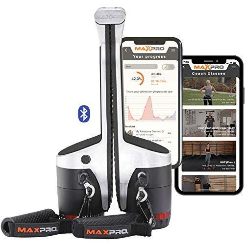 MAXPRO: Portable Smart Cable Home Gym Machine | All-in-One w/Bluetooth | Raw Metal