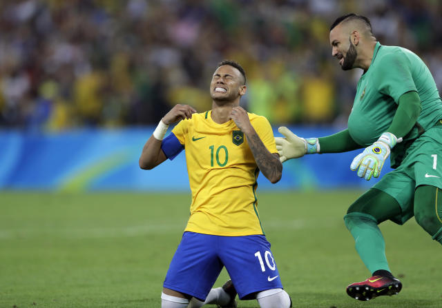 <p>At the 2016 Summer Games in Rio, soccer megastar Neymar played the key role in inspiring Brazil to the one major honor that had eluded it over the years when he helped the Selecao claim Olympic gold on home soil. (Getty) </p>