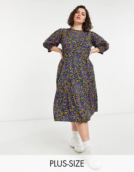 "<br><br><strong>Yours</strong> Midi Smock Dress, $, available at <a href=""https://go.skimresources.com/?id=30283X879131&url=https%3A%2F%2Fwww.asos.com%2Fus%2Fyours%2Fyours-midi-smock-dress-in-purple-floral%2Fprd%2F23130601"" rel=""nofollow noopener"" target=""_blank"" data-ylk=""slk:ASOS"" class=""link rapid-noclick-resp"">ASOS</a>"