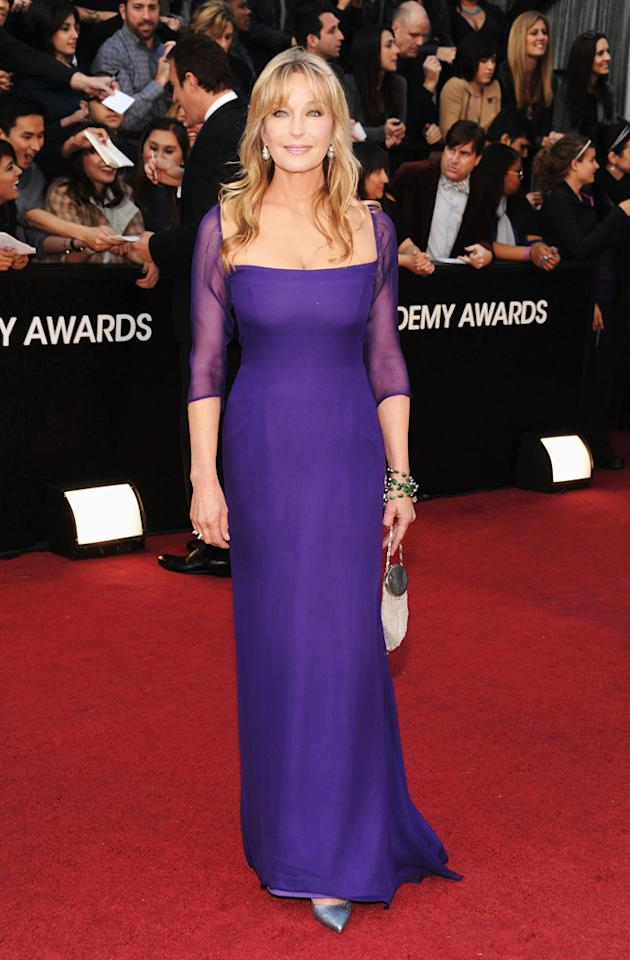 Bo Derek arrives at the 84th Annual Academy Awards in Hollywood, CA.