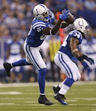 Colts wide receiver Reggie Wayne (AP Photo/Sam Riche)