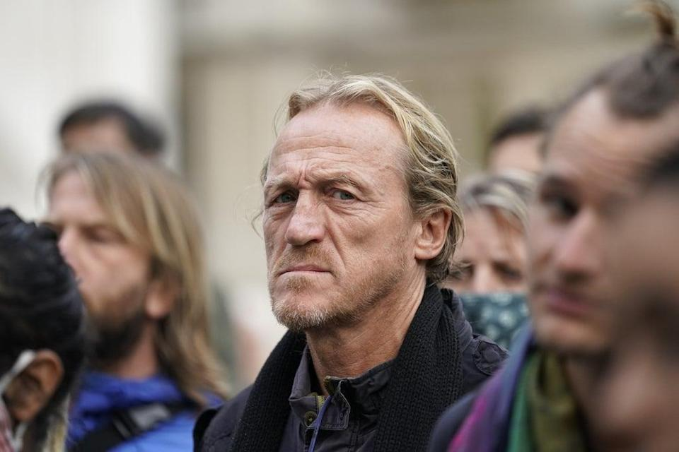 Jerome Flynn during the Extinction Rebellion protest (PA)