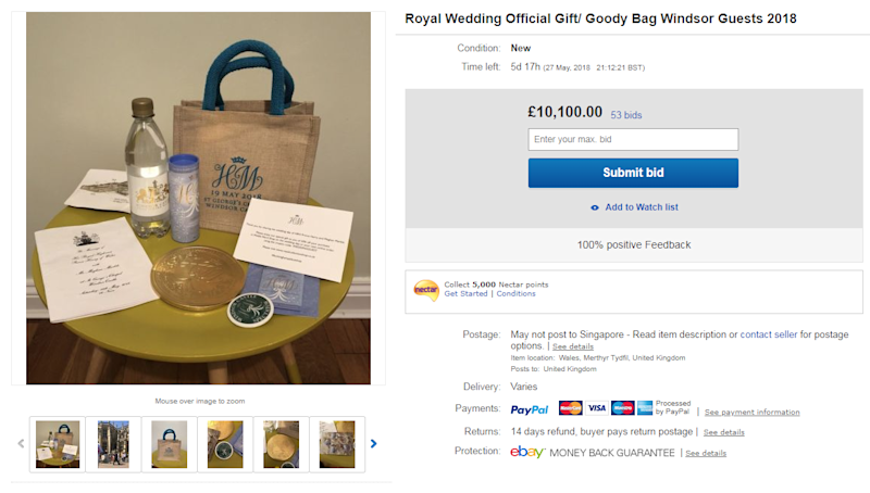 wedding ideas for may are selling their royal wedding gift bags on ebay 27816