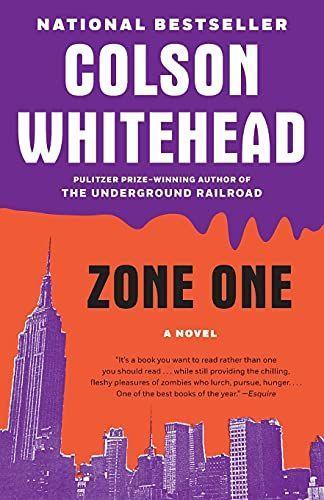 """<p><strong>Colson Whitehead</strong></p><p>amazon.com</p><p><strong>$7.79</strong></p><p><a href=""""https://www.amazon.com/dp/0307455173?tag=syn-yahoo-20&ascsubtag=%5Bartid%7C10055.g.37066383%5Bsrc%7Cyahoo-us"""" rel=""""nofollow noopener"""" target=""""_blank"""" data-ylk=""""slk:Shop Now"""" class=""""link rapid-noclick-resp"""">Shop Now</a></p><p>The premise of this book might hit a little close to home these days, and maybe that makes it even scarier. It takes place in a post-zombie apocalypse hellscape in which a man named Mark Spitz is part of a sweeper team that has to eradicate the straggler zombies. All goes horribly wrong in a novel that's both stomach-churning and literary.</p>"""