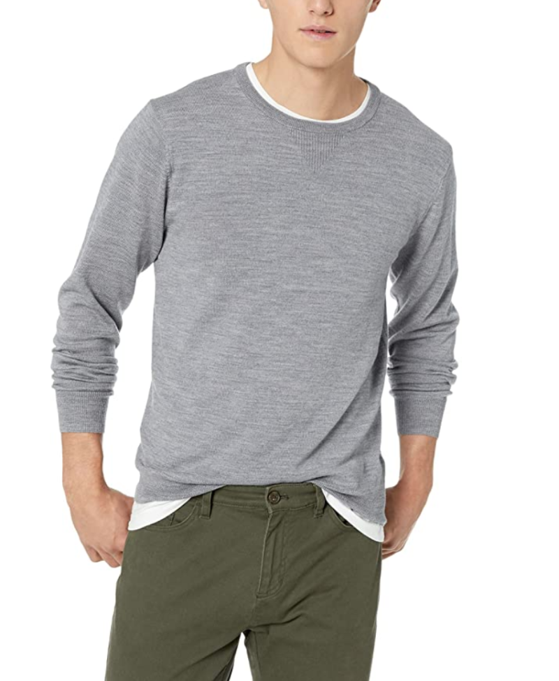 Goodthreads Men's Merino Wool Crewneck Sweater available as part of Prime Day 2020.
