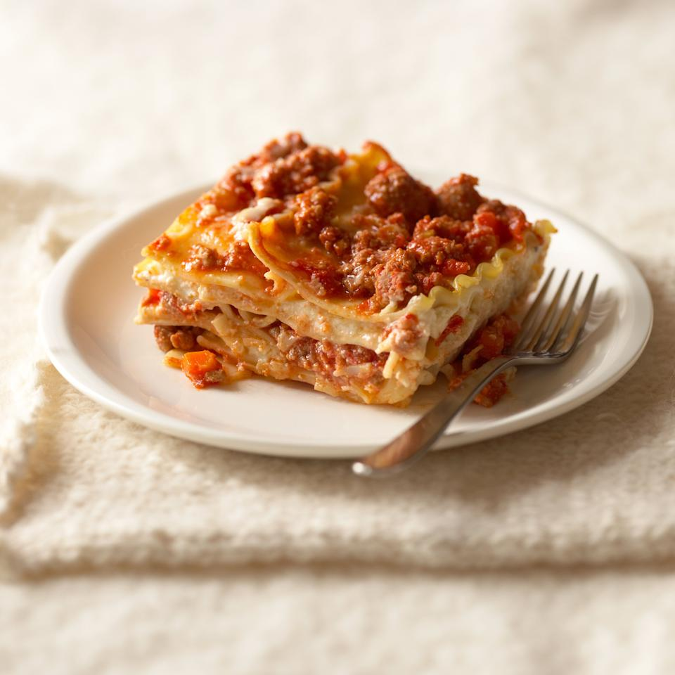 Reheating lasagna can liberate some of the flavor molecules that have been trapped inside the starch of the pasta. (Photo: Annabelle Breakey via Getty Images)