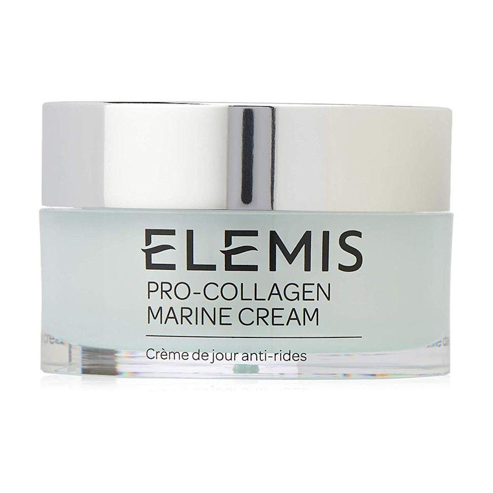 """<p><strong>Elemis</strong></p><p>amazon.com</p><p><strong>$102.40</strong></p><p><a href=""""https://www.amazon.com/dp/B00DZP5SJK?tag=syn-yahoo-20&ascsubtag=%5Bartid%7C10058.g.33762832%5Bsrc%7Cyahoo-us"""" rel=""""nofollow noopener"""" target=""""_blank"""" data-ylk=""""slk:SHOP IT"""" class=""""link rapid-noclick-resp"""">SHOP IT</a></p><p>Clinically proven to erase wrinkles and backtrack to beautiful skin, we can attest that Elemis Pro-Collagen cream is worth its price point. Apply over the course of 15 days, and this fast-action, anti-aging formula will have your skin tightened and toned.<br></p>"""