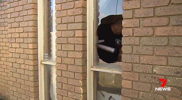 The rented home was damaged during the out-of-control party. Source: 7 News