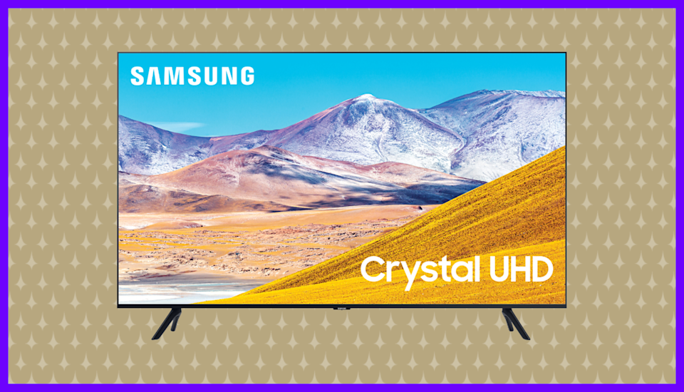Save a whopping 57 percent on this Samsung Ultra HD LED Smart TV--tedious beige wallpaper not included. (Photo: Walmart)