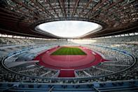 The 68,000-seater Olympic Stadium in the centre of Tokyo has been built on the site of the 1964 stadium