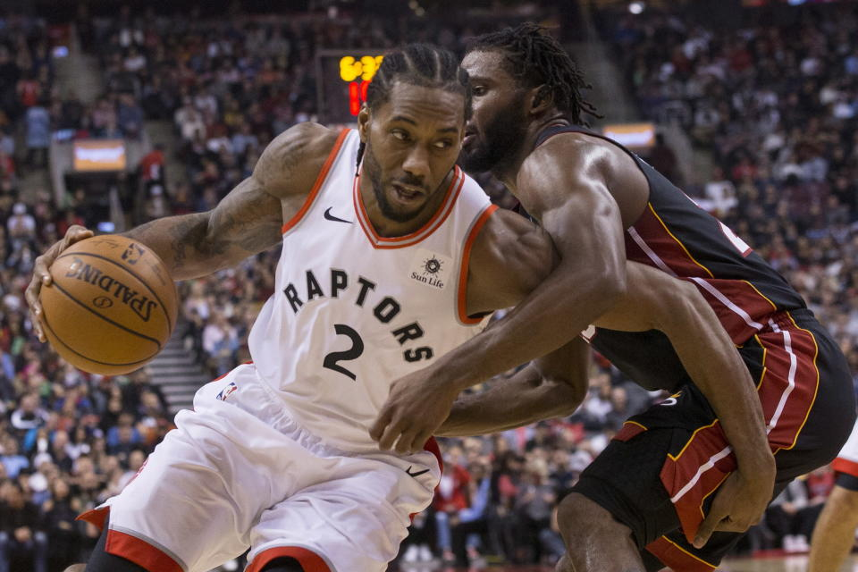 Kawhi Leonard had played 421 regular season games in his career without picking up a technical. (AP Photo)