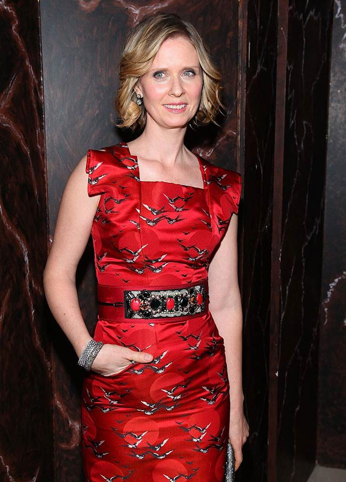 "April 9: Cynthia Nixon turns 45 Mike Coppola/<a href=""http://www.wireimage.com"" target=""new"">WireImage.com</a> - January 7, 2011"